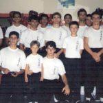 Foto na primeira sede da escola