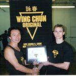 Certificado Wing Chun com Sifu Chow