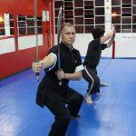 Treino com armas tradicionais no Shaolin do Norte